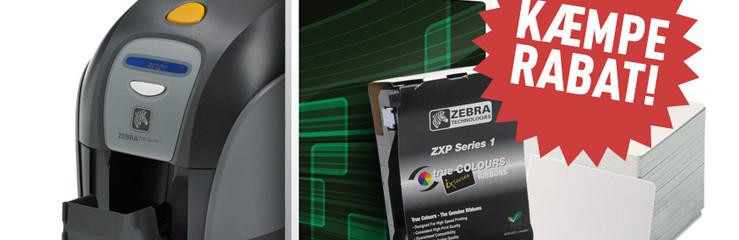 Nordens billigste Zebra kortprinter – Spar 60% i forhold til listeprisen