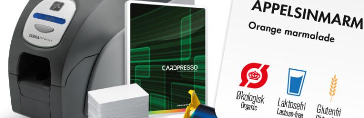 Komplet startpakke til print af prisskilte og andre plastikkort